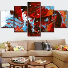 Wall Art Canvas HD Printed Graffiti Painting 5 Panels Game Metal Gear Artistic Abstract Role Modular Pictures Decor Living Room