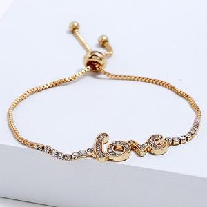 Модный роскошный браслет с кристаллами и надписью LOVE, очаровательные браслеты для женщин, микро проложить циркониевый браслет возлюбленно...