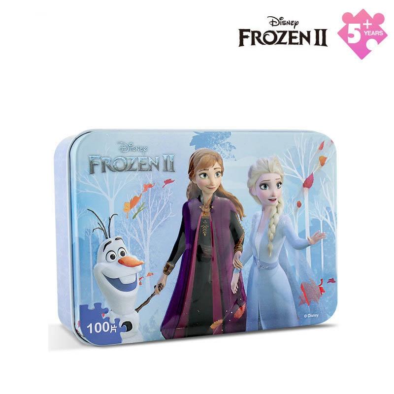 Дисней 100 шт плоская головоломка ледяная Романтика 2 железная коробка головоломка ледяной снег любовь песок деревянная игрушка головоломка
