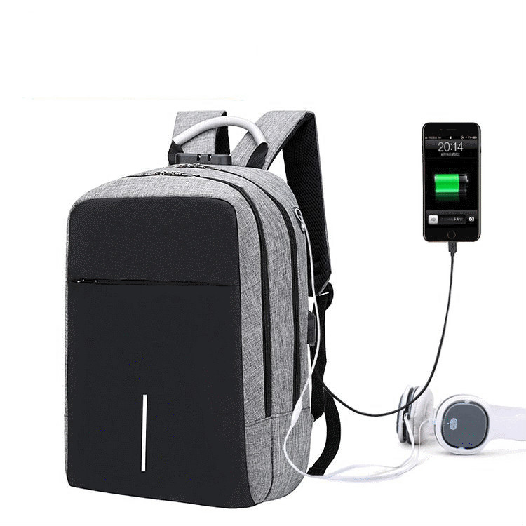 Men's And Women's General Backpack Anti Theft Backpack USB Charging Backpack Multi Functional Business Computer  Gift Backpack
