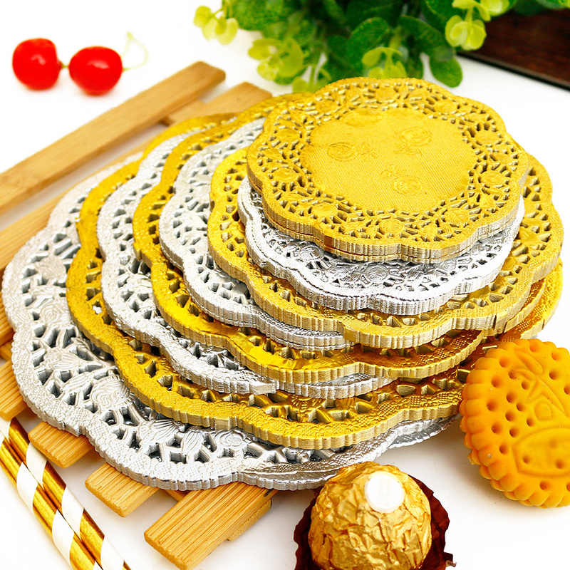 Decorative Placemats and Tableware for Weddings Just Artifacts 6.5 Paper Doilies Round Lace Design 150pc Color: Metallic Silver Birthdays and Life Celebrations!