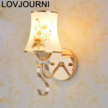 Arandela Bedroom Lamp Applique Murale Luminaria Crystal Luminaire Lampara De Interior Wandlamp Aplique Luz Pared Wall Light