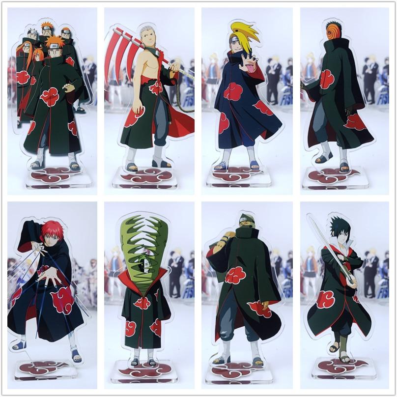 NARUTO Akatsuki Action Figura Anime Pain Konan Zetsu Itachi Kisame Sasori Deidara Acrylic Dolls Figure Toy 15cm