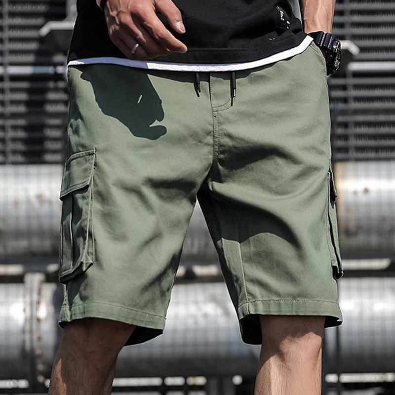 Plus Size Summer Cargo Shorts Men Cotton Casual Shorts Male Loose Short Cargo Pants