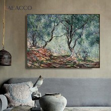 Laeacco Canvas Art Oil Painting《Pear flower Tree》Van Gogh Poster Classic Wall Art Home Decor Pictures For Living Room Decoration