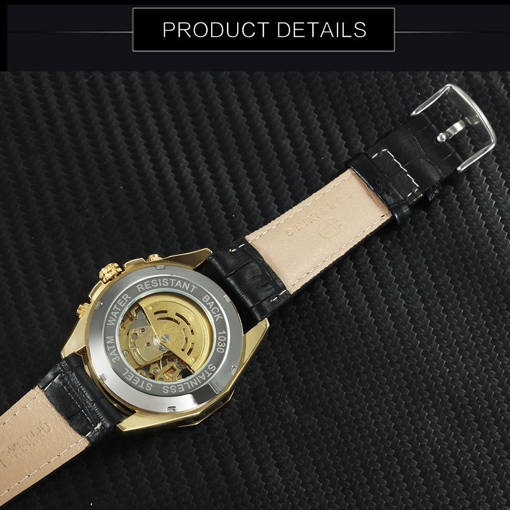 H347e830f17e84ec8b5e002126eab184el FORSINING Golden Top Brand Luxury Auto Mechanical Watch Men Stainless Steel Strap Skeleton Dial Fashion Business Wristwatches