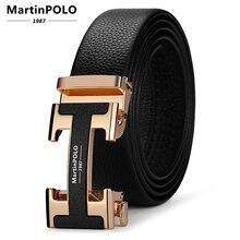 الذكور مصمم جلد طبيعي أحزمة الرجال عالية الجودة الرجال حزام الفاخرة التلقائي مشبك الأحزمة للرجال Cinturones Hombre MP02803P
