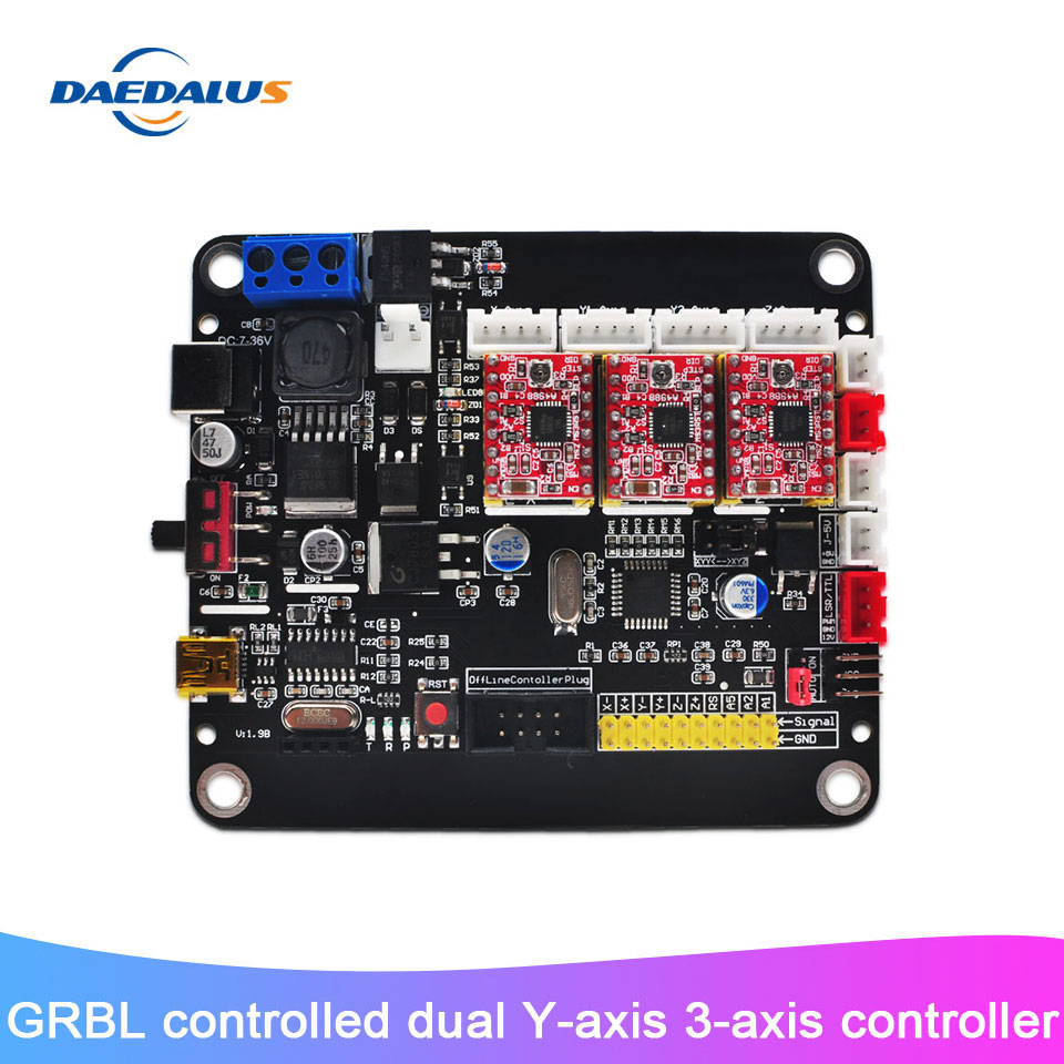 Neue 3 Achse Controller CNC Control USB Board Doppel Y Achse Bord Mit GRBL Control Für 3018/2418/1610 Laser Stecher Maschine
