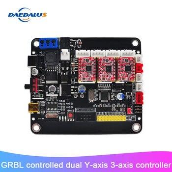 Nuevo controlador de 3 ejes CNC Tablero de Control USB doble Y tablero de eje con controlador GRBL para máquina de grabado láser 3018/2418/1610