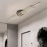 Işıklar ve Aydınlatma'ten Avizeler'de LICAN Modern Led avize yatak odası koridor fuaye oturma odası 90 260V Led tavan avize cilası de plafond