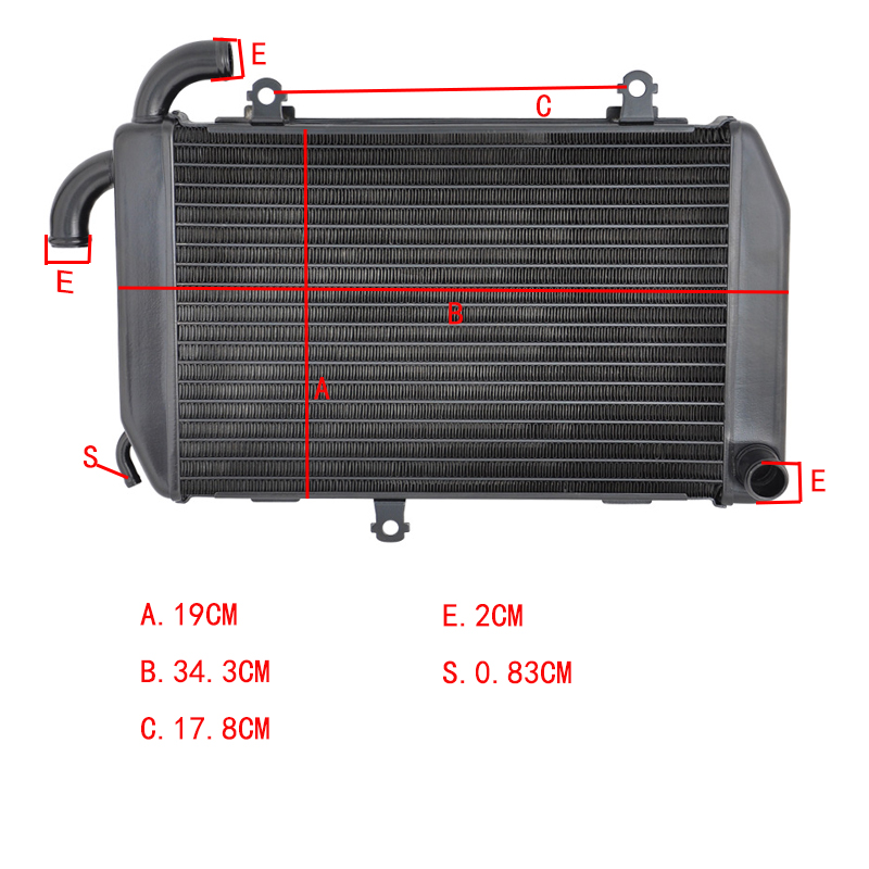 For Honda GL1800 GL 1800 2006-2017 GOLDWING Motorcycle  Radiator  Aluminium Replacement Engine Cooling  parts