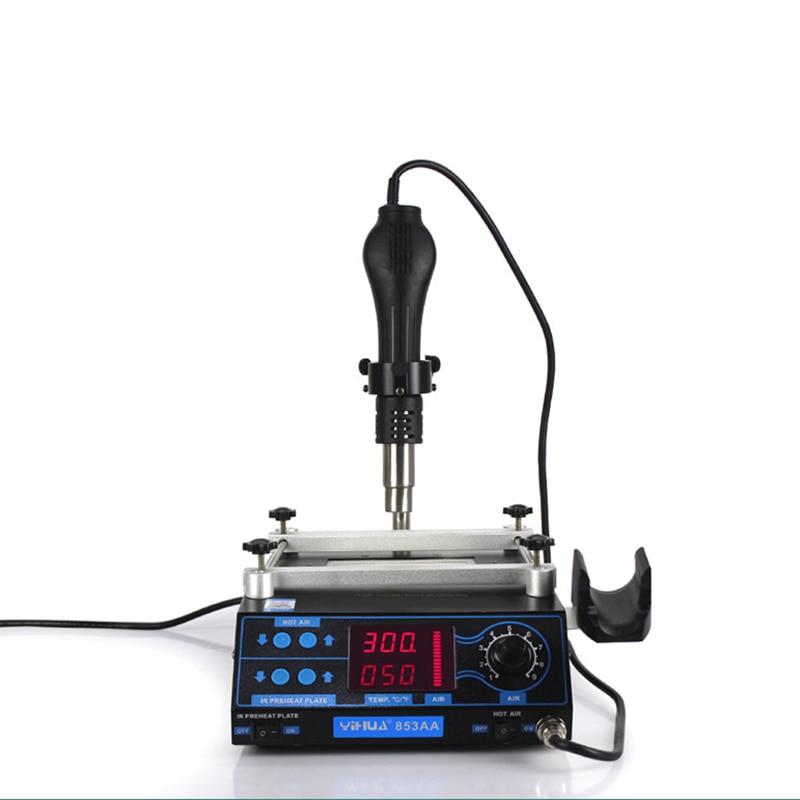 YIHUA 853AA IR Electronic BGA Rework Station PCB Preheating Station Soldering & Desoldering Motherborad Repair Machine