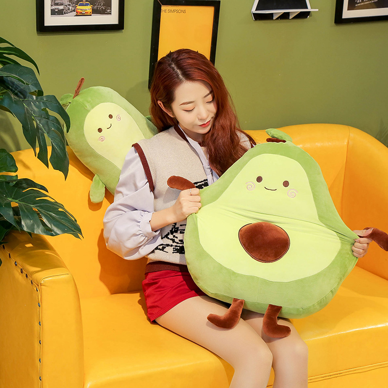 Guacamole Print Fruit Plush Pillow I Love Avocado Plush 30cm40cm60cm Cute Avocado Plushie Avocado Gifts For Girls Avocado Lovers