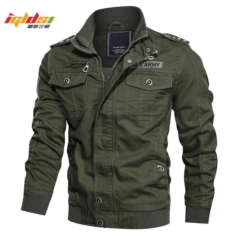 Men's Bomber Flight Tactical Jacket Winter Cotton Cargo Jacket Coat MA-1 Style Army Pilot Military Jacket Overcoat Plus Size 6XL