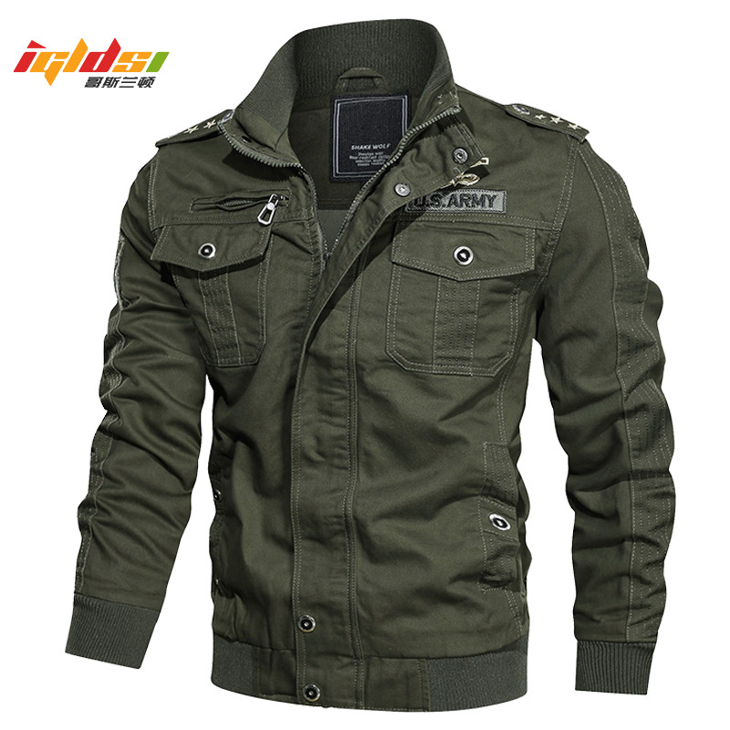 Men's Bomber Flight Tactical <font><b>Jacket</b></font> <font><b>Winter</b></font> Cotton Cargo <font><b>Jacket</b></font> Coat MA-1 <font><b>Style</b></font> Army Pilot <font><b>Military</b></font> <font><b>Jacket</b></font> Overcoat Plus Size 6XL image
