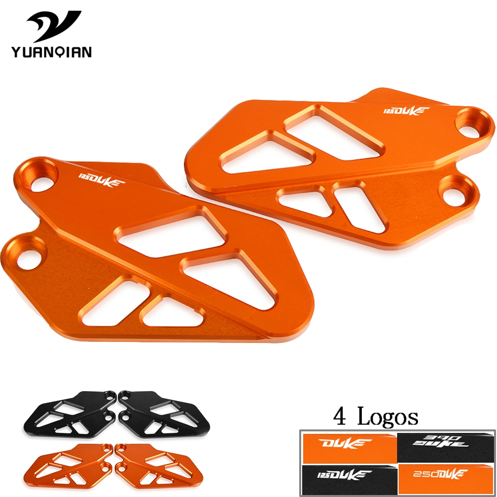 For KTM Duke 125 2017 2018 2019 Motorcycle CNC Front Heel Protective Cover Guard For 125 Duke Motorbike Brake cylinder guard image