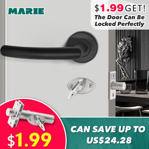 Image 2 - LH1007 Black Color Stainless Steel Half Dummy Door Knob For Interior Door Lever Brushed Nickel Door Handle
