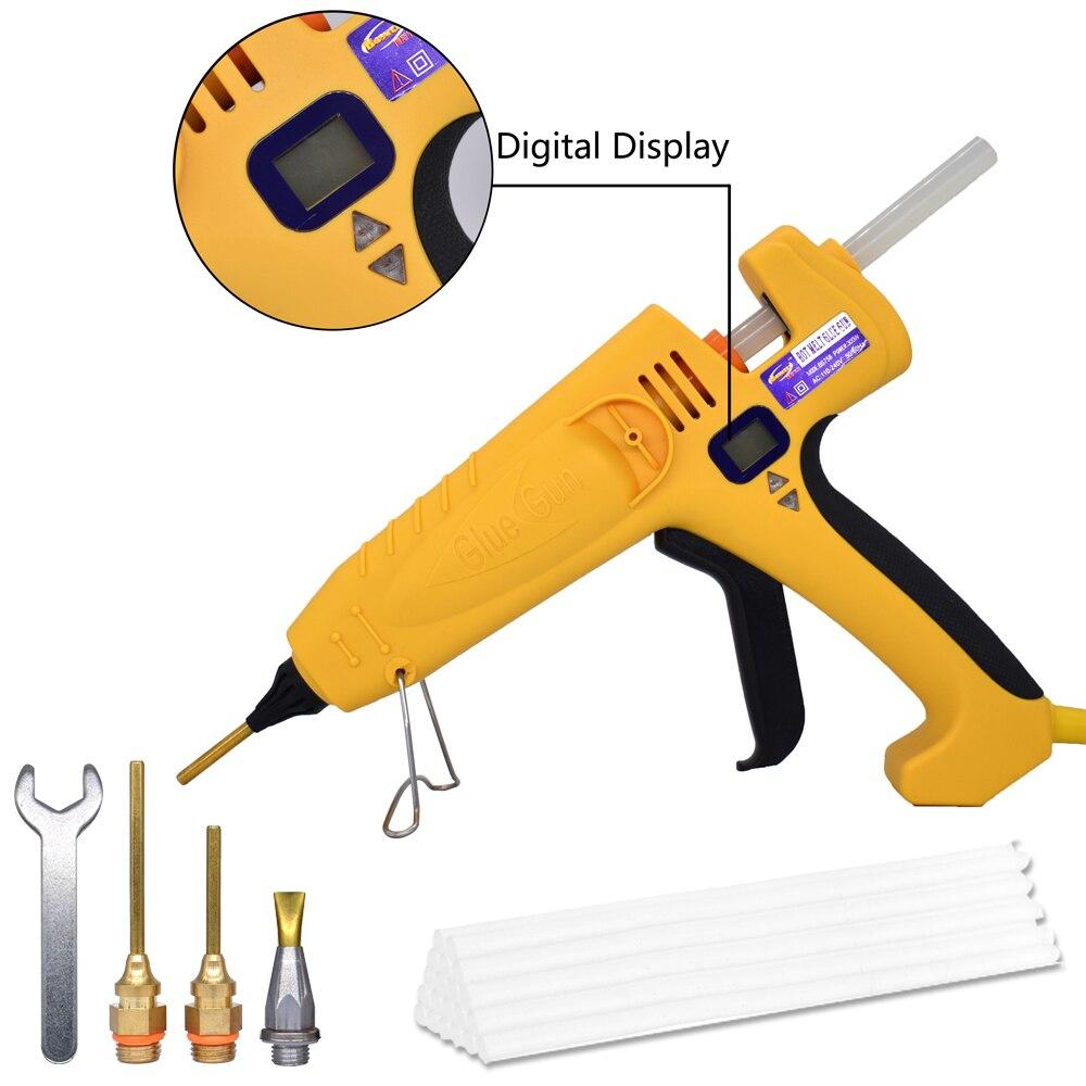 500W EU/US High Power Hot Melt Glue Gun Temperature Adjustable Digital Display Graft Repair Tools Heat Glue Gun, Free Shipping