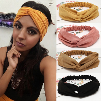 6pcs/Lot Fashion Women Solid Headbands Girls Bohemian Hair Bands Vintage Cross Turban Bandage Print HairBands Hair Accessories new girls vintage cross knot elastic hairbands soft solid print headbands bandanas girls hair bands hair accessories for women