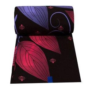 Image 2 - Tela de cera estampada de batik Africa Ankara, 2019 algodón, cera 100% real, material de costura de África para vestido de fiesta de 6 yardas, 2020
