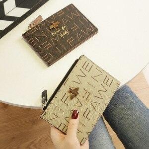 Image 2 - 2020小さな財布ショート革女性牛革マルチカードカードバッグビッグ超薄型カードバッグ名刺ホルダーカード