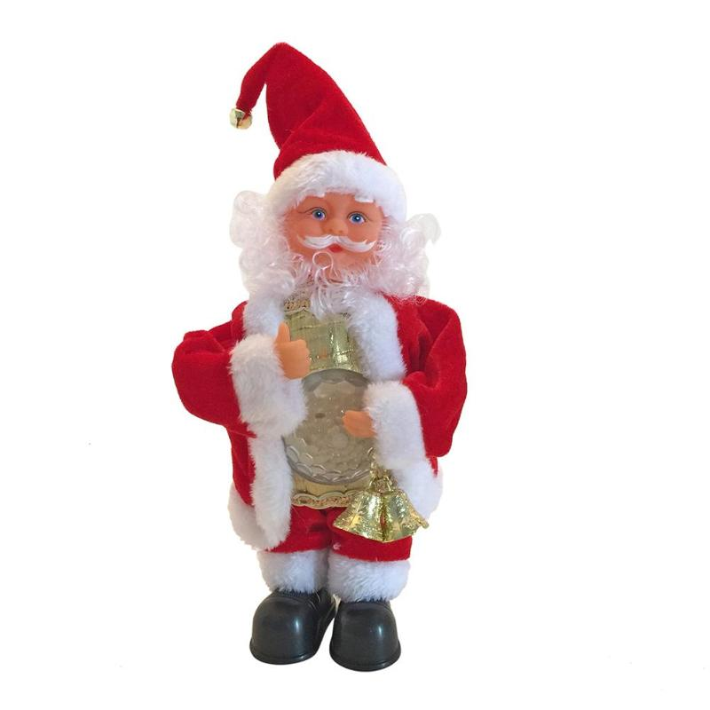 Cute Creative Christmas Singing Electric Doll Home Decoration Baby Toy Skillful Design And Exquisite Appearance Durable