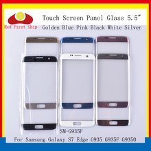 10Pcs/lot Touch Screen For Samsung Galaxy S7 Edge G935 G935F G9350 SM-G935F Touch Panel Front Outer S7 Edge LCD Glass Lens стоимость