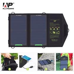 Портативное солнечное зарядное устройство ALLPOWERS, 10 Вт, 5 В, зарядка для телефона