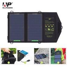ALLPOWERS GÜNEŞ PANELI 10W 5V güneş enerjisi şarj cihazı taşınabilir pil aletleri telefon için yürüyüş kamp açık havada
