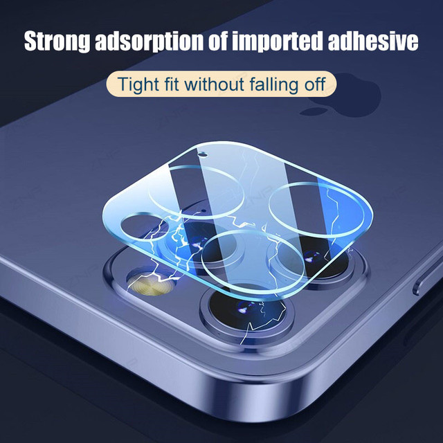 ZNP 3Pcs Camera Tempered Glass For iPhone 12 11 Pro Xs Max Lens Screen Protector On The For iPhone X XR 12 Mini Protective Film 5