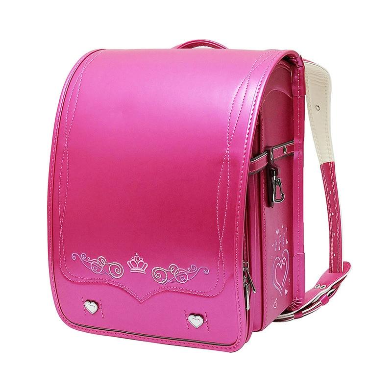 2020 NEW Schoolbag Kids Backpack Princess Schoolbag Waterproof PU Leather Embroidery Backpacks Student Mochila Grade 1-4