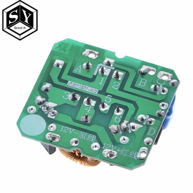 12v a 220v step up power module 35w DC-AC impulso inversor módulo duplo canal inverso conversor impulsionador módulo regulador de potência