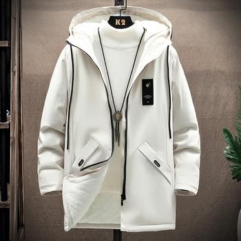 KOLMAKOV 2021 New Men's Thin or Thick With Velvet Windbreaker Men Hooded Printed Overcoats Casual Long Trench Coats Male M-4XL