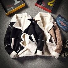 Winter Lamb Hair Jacket Men Warm Thick Fashion Parka Simple Color Casual Cotton Coat Man Large Size Male Clothes S-5XL