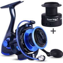 ecooda best selling 5 1bb spinning reel 5 1 1 gear ratio fishing reel max drag 8kg carrete de pescar bait casting aluminum spool Sougayilang Carp Fishing Reel 13+1 BB Spinning Reel with Free Spool Max Drag 15KG Aluminum Body 5.0:1 Gear Ratio Fishing Wheel