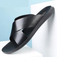 Мужские сандалии на плоской подошве черные пляжные гладиаторы