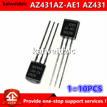 Kaiweikdic nowy importowany oryginalny AZ431AZ-AE1 AZ431 TO92 regulowane precyzyjne podłączenie równoległe zarządzanie energią trioda tanie i dobre opinie kaiweidzic Przełączanie diody CN (pochodzenie) International standard