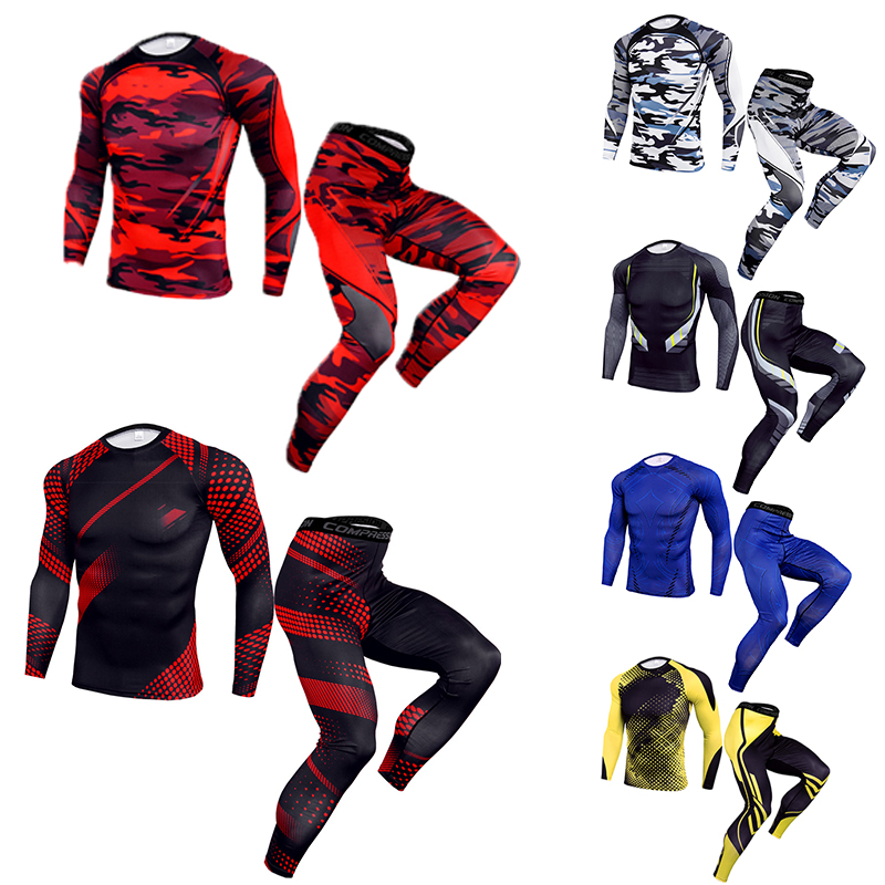 New Men Thermal Quick Compression Underwear Set Quick Drying Men Suit Clothing Warm Men Heat Training Cycling Thermal Underwear