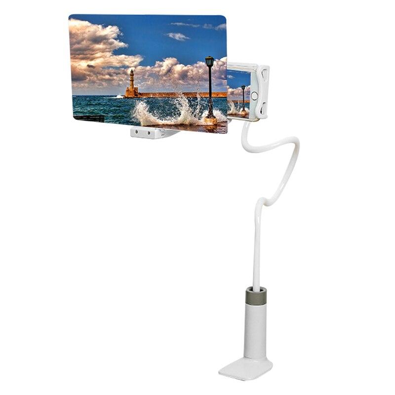 Handy High Definition Projektion Halterung Einstellbare Flexible Alle Winkeln Telefon Tablet Halter 3D HD Telefon Bildschirm Lupe