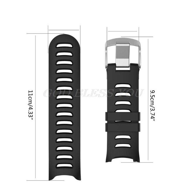 Bracelet de montre bracelet de remplacement en Silicone pour Garmin Forerunner 610 montre avec outils couleur noire livraison directe