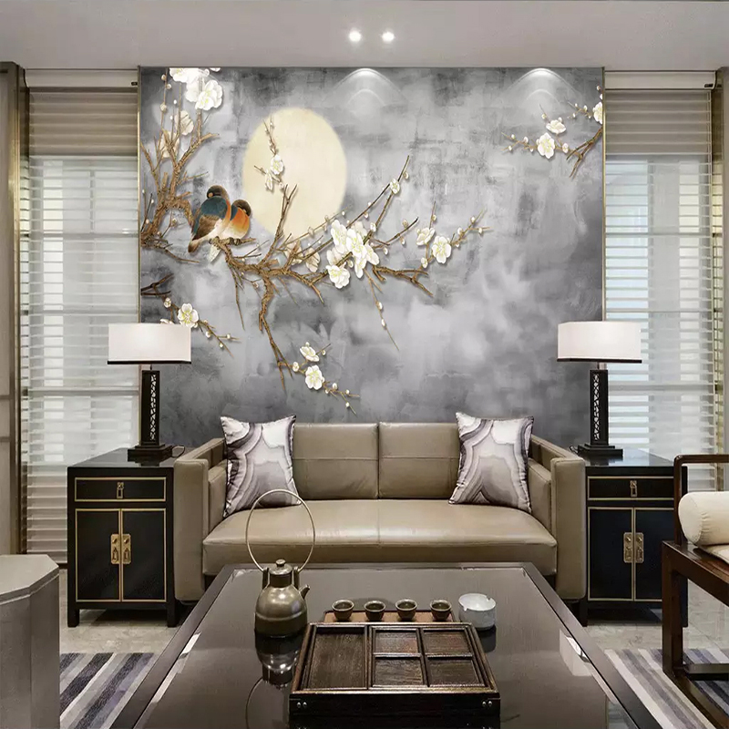 Photo-Wallpaper-3D-Chinese-Style-Flowers-And-Birds-Wall-Painting-Living-Room-TV-Sofa-Bedroom-Background (2)