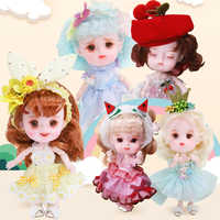 Dream Fairy 1/12 BJD doll DODO Doll 14cm mini doll 26 joint body Cute children gift toy Angel surprise doll,ob11