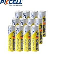 12 sztuk PKCELL AA baterie NI MH akumulatory 2A Bateria Baterias NI MH 2000mAh 1.2V akumulator AA