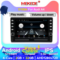 8'' IPS screen 2din Android 4G lte CAR GPS For Audi A4 B6 B7 S4 B7 B6 RS4 B7 SEAT Exeo No dvd Stereo Radio player WIFI CARPlay