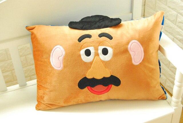 La historia del juguete el señor cabeza de patata alienígena funda de almohada individual único caso
