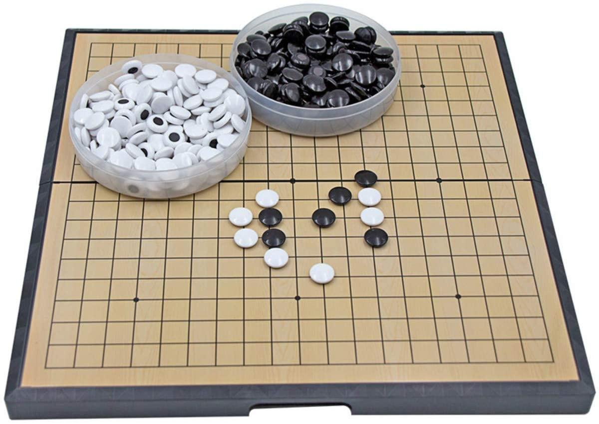 25CM magnétique aller jeu déchecs ensemble de jeu avec des pierres en plastique magnétiques convexes simples et aller conseil