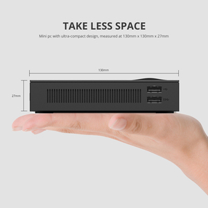 Image 3 - Mini PC Intel Celeron J3455 Quad Core 4GB/8GB DDR3L 128GB M.2 SSD 4K 2.4/5.0G WiFi Bluetooth4.0 4*USB Type C HDMI VGA Windows 10