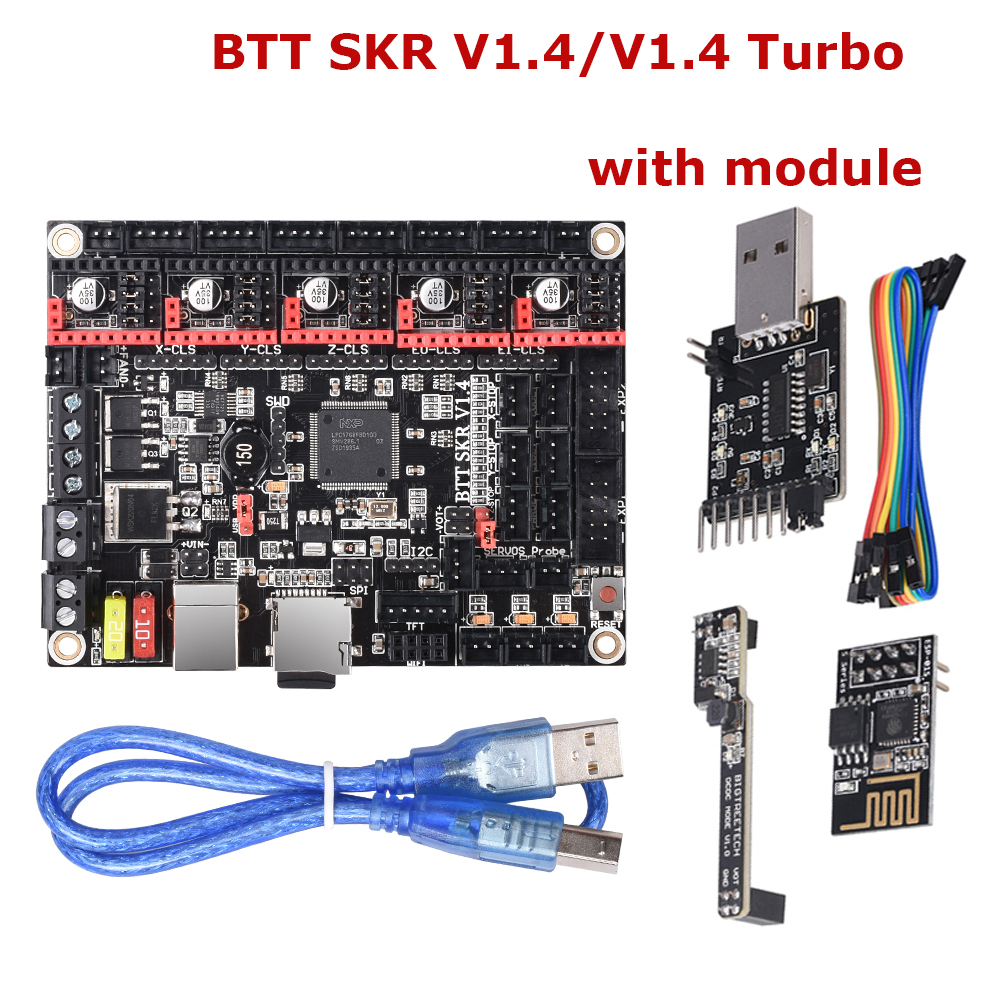 BIGTREETECH BTT SKR V1.4 SKR V1.4 Turbo 32 Bit Control Board WIFI Module DCDC TMC2209 3d Printer Parts For ender3 vs SKR V1.3