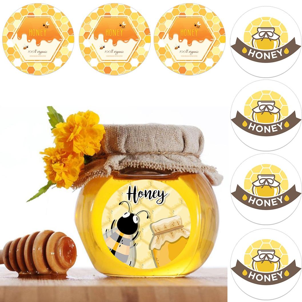 4.5cm mel festa adesivos honeybee bebê chá de fraldas mamãe para abelha adorável papel adesivos crianças presente festa de aniversário decoração