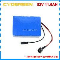 750W 51.8V bateria de lítio 11.6AH 52V 12AH e bateria scooter 52V uso da bateria ebike Panasonic 2900mah celular|ebike battery|battery ebike|51.8v battery -